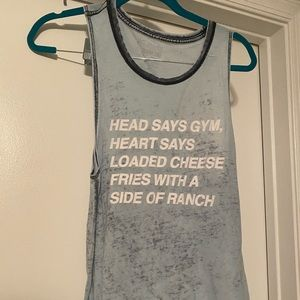 Funny work out muscle tank